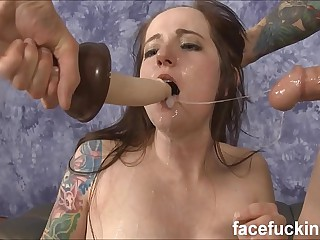 Characteristic Fucking Stupid Drab Maci May Coupled with Leaving Her Cum Covered
