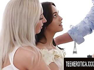Angelic Midget Teens Share a Fat Dick