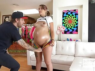 Pregnant babe Indica Monroe has rough hookup there Bryan Gozzling