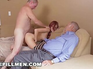 BLUE PILL MEN - Geriatric Pals Go Down Under With Young Redhead Zara Ryan