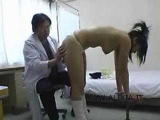 Doctor examines schoolgirls