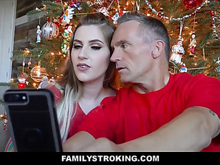 Christmas stepdaughter and daddy fuck next to mama