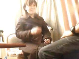 Schoolgirl filmed when shaking jock in the muff