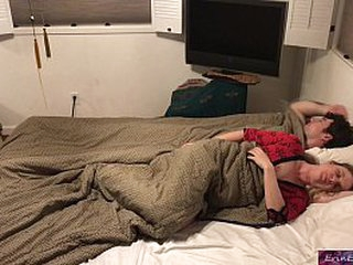 Stepson and stepmom sleep together and fuck while visiting family  - Erin Electra