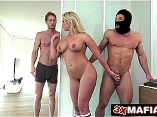Sexy wife fucked by theif