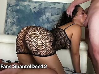 Submissive Ebony Sluts Throat & Pussy Used & Abused By Dominante White Bull with Big Cock Shantel Dee