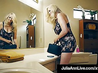 Hot Mega Milf Julia Ann makes a lucky fan's fantasies cum true as she slobbers, sucks & fucks his hard cock until he dumps his load all over her big tits! Full Video & Julia Live @ JuliaAnnLive.com!
