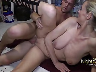 German Cougar have Sex with her Sons very best friend